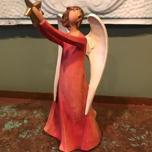 Decorative Angel Holding Star 8 1/2 Inches High